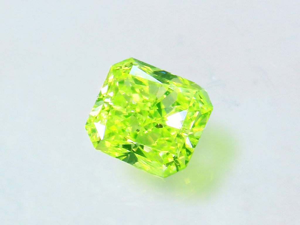 Fancy Intense Yellowise Green Diamond