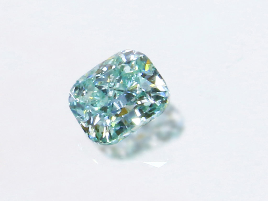 Fancy Vivid Bluish Green Diamond