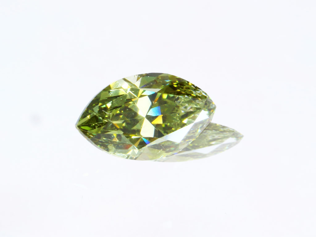 Fancy Dark Gray Greenish Yellow Diamond カメレオンダイヤ(0.52ct)