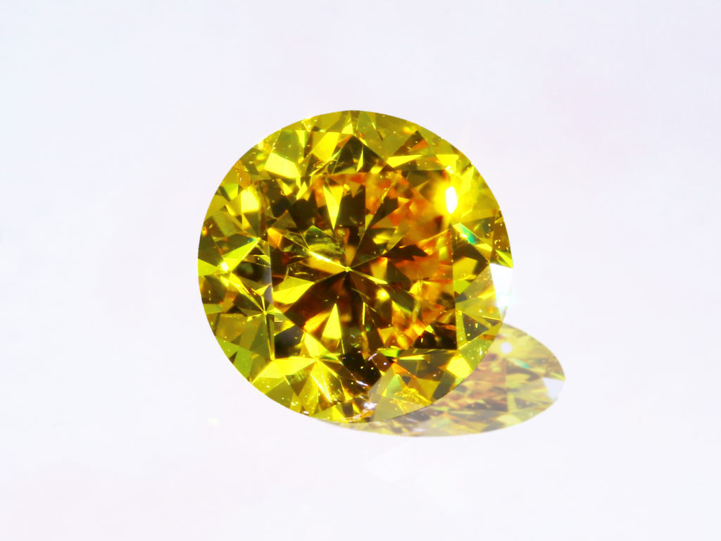 Fancy Vivid Yellow Diamond(0.539ct)