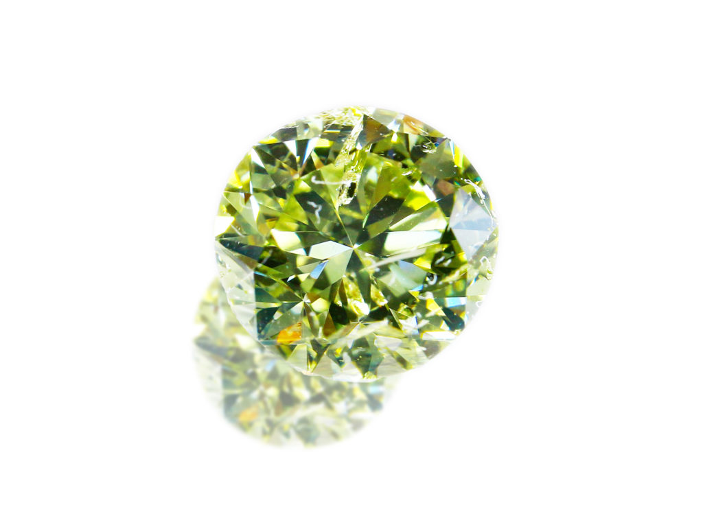 Fancy Grayish Green Yellow Diamond(1.243ct)
