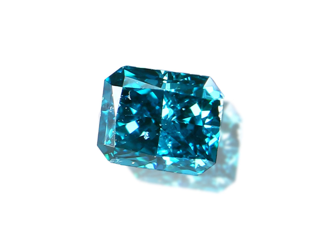 Fancy Dark Greenish Blue Diamond(0.12ct)
