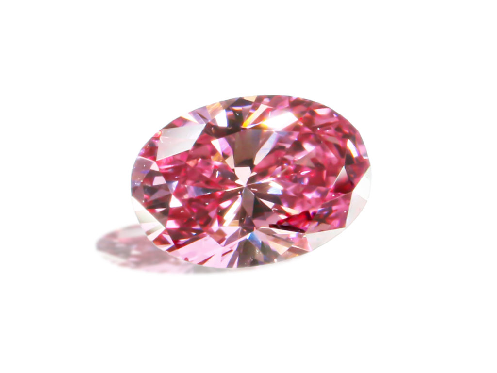 Fancy Vivid Purprish Pink Diamond(0.13ct)