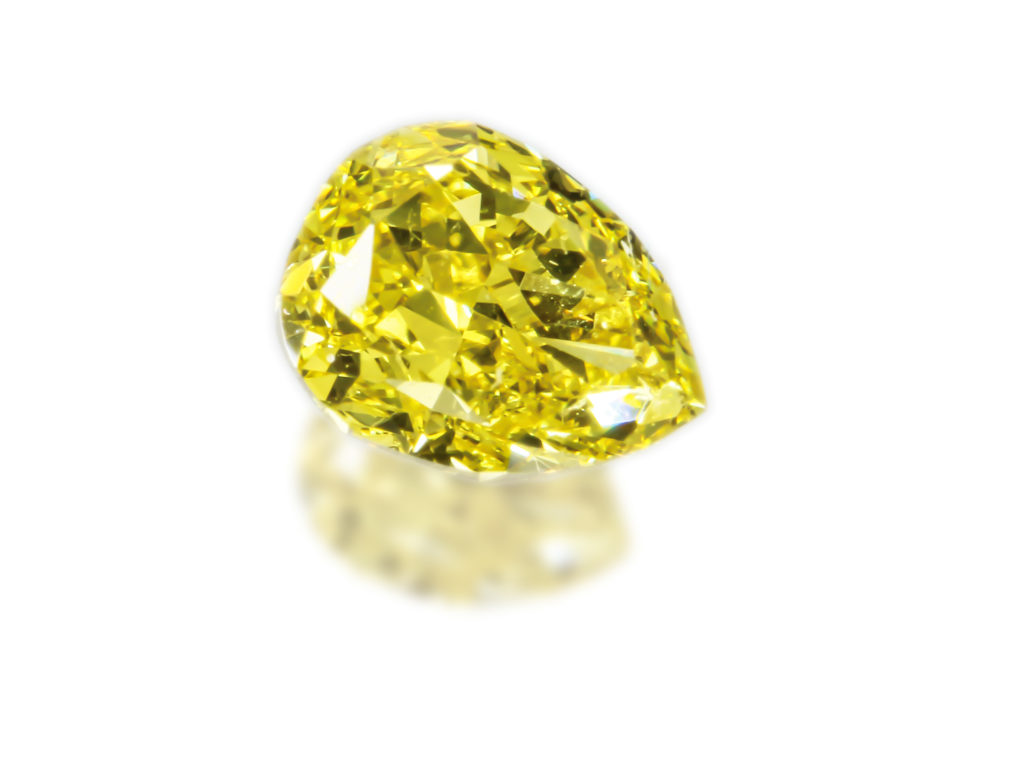Fancy Vivid Yellow Diamond(0.537ct)
